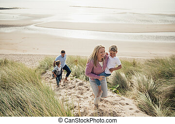 Walking up the Sand Dune