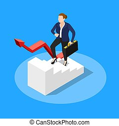 Walking Upstairs Business Concept