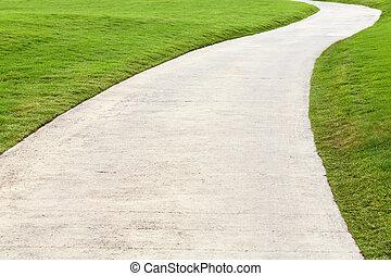 Walking way - Concrete walking way in golf course