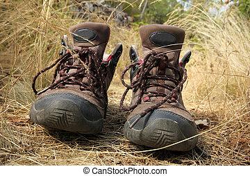 Walking woman boots