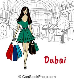 woman in shopping mall