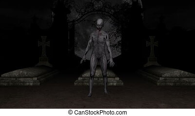 zombie - walking zombie