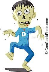 Walking zombie vector icon