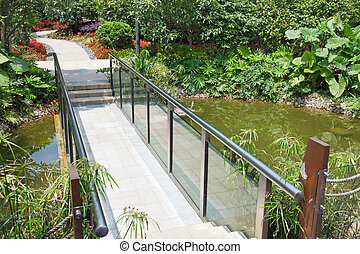 Walkway - A walkway winding its way through a tranquil...