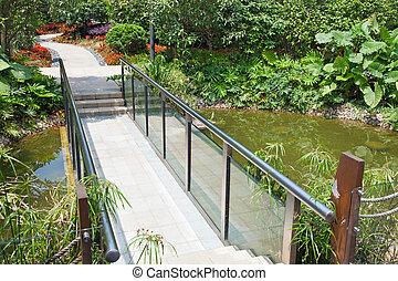 Walkway - A walkway winding its way through a tranquil ...