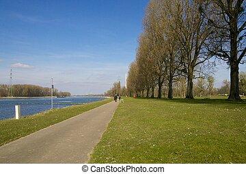 Walkway along River Rhine
