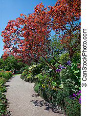 Walkway at Butchart Gardens - One of the many walkways at ...