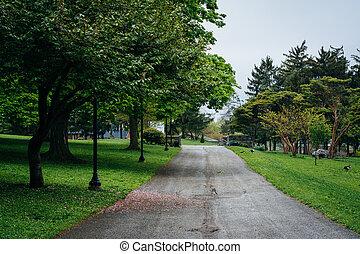 Walkway at Kiwanis Park, in York, Pennsylvania.