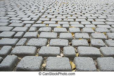 walkway cement block grey