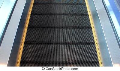 Walkway Escalator. Top view