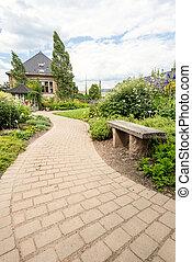 Walkway in a garden