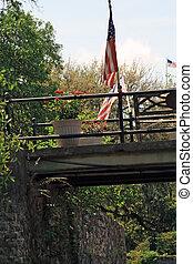 Walkway in Savannah Georgia