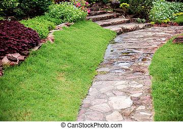 Walkway in the garden.