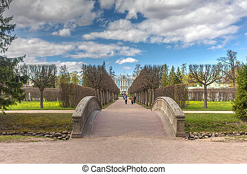 walkway in the spring park