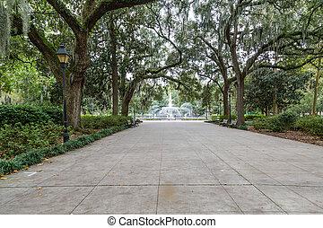 walkway, om te, forsyth, park, fontijn