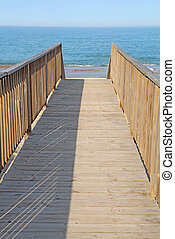Walkway to a public beach access vertical - Walkway to a...