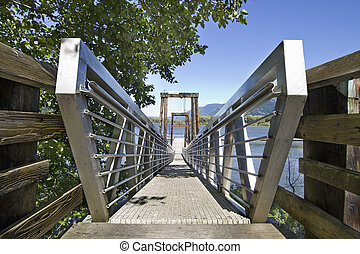 Walkway to Boat Moorage at the Columbia River