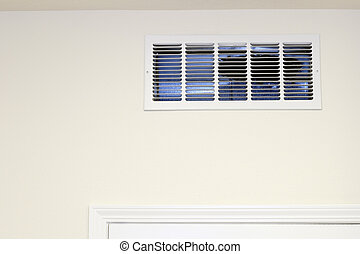 Wall Air Intake Vent - Return air vent on a kitchen wall ...