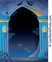 Wall alcove image 2 - eps10 vector illustration.