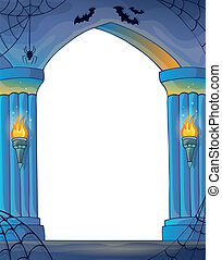 Wall alcove image 3 - eps10 vector illustration.