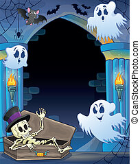 Wall alcove with Halloween theme 1