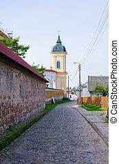 Wall and church in Tykocin, Poland - Wall and church in ...