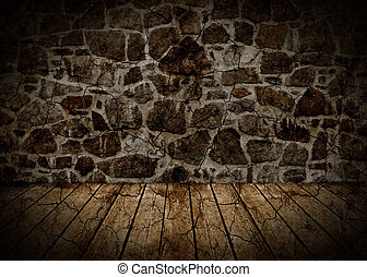 Wall and floor abstract background.