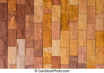 Wall background - Brown synthetic stone for stone wall...