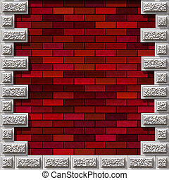 wall background - red brick wall texture
