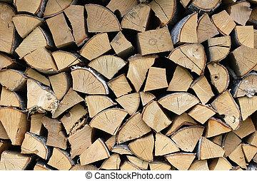 Wall birch wood - Background of wall birch wood