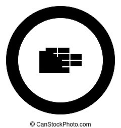 Wall black icon in circle vector illustration