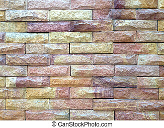 Wall block textured for background