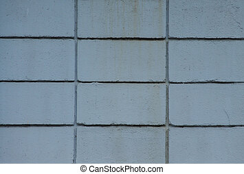 Wall blue block for background