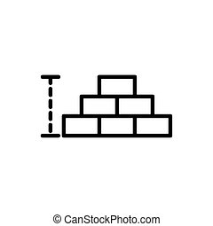 wall brick architecture icon line style