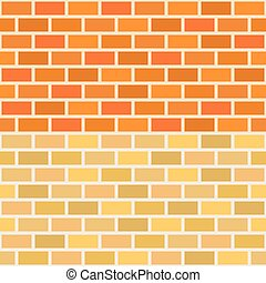 Wall brick in two tone, seamless pattern vector