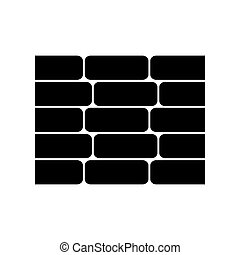 wall bricks isolated icon