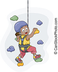 Wall Climbing Girl