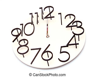 wall clock a white background