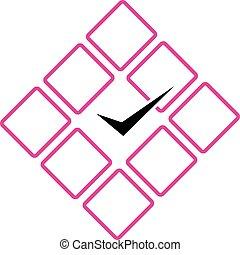 Wall clock business logo