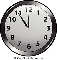 Wall Clock - Five minutes to midnight