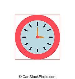 wall clock flat style icon