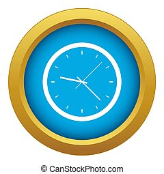 Wall clock icon blue isolated on white background for any ...