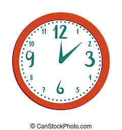 Wall clock icon in cartoon style - icon in cartoon style on ...