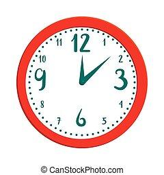 Wall clock icon in cartoon style