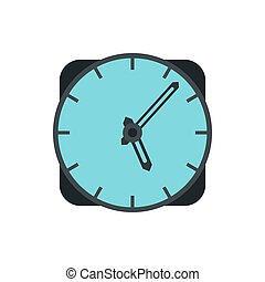 Wall clock icon in flat style