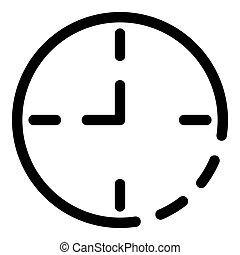 Wall clock icon, outline style