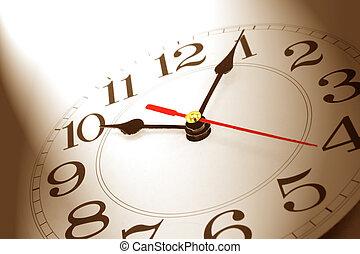 wall clock in brown tone
