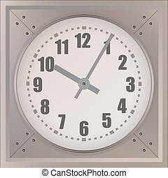 Wall Clock isolated on white background. Vector