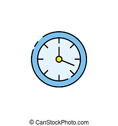 Wall clock line icon