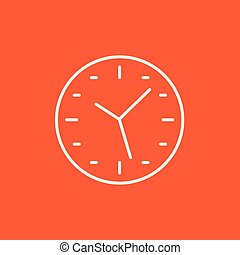 Wall clock line icon.
